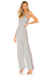 Spiritual Gangster X Madeleine Thompson Stripe Jumpsuit Gray