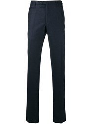 Corneliani Tailored Slim Fit Trousers Blue