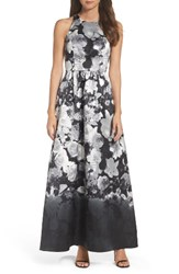 Alfred Sung Women's Floral Sateen Gown Bohemian Floral
