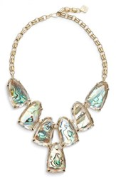 Kendra Scott Women's 'Harlow' Necklace Suspended Abalone Gold