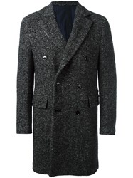 Massimo Piombo Mp Double Breasted Coat Black