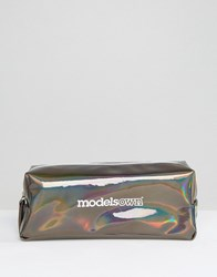 Models Own Holochrome Prismatic Small Make Up Bag Holochrome Clear