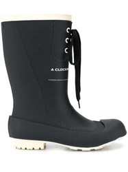 Undercover Lace Up Wellies Black