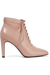 Opening Ceremony Mirzam Lace Up Leather Ankle Boots Neutral