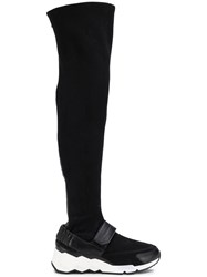 Pierre Hardy Flash Comet Knee High Sneakers Black