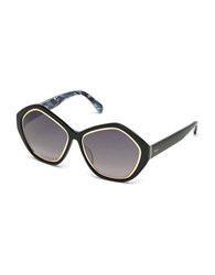 Emilio Pucci 57Mm Geo Round Farfalla Pattern Sunglasses Black