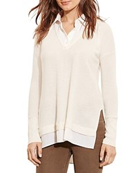 Ralph Lauren Layered Look Cashmere Sweater Antique Ivory