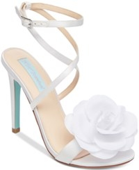 Betsey Johnson Blue By Terra Sandals Women's Shoes White
