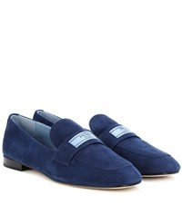 Prada Suede Loafers Blue