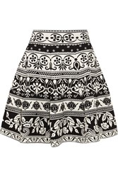 Alexander Mcqueen Jacquard Knit Mini Skirt Black