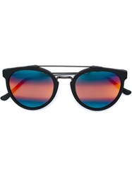 Retrosuperfuture Round Shape Sunglasses Black