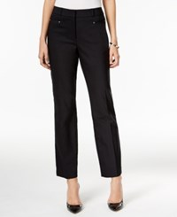 Jm Collection Petite Straight Leg Ankle Pants Only At Macy's Deep Black