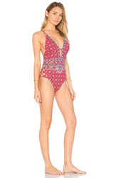 Nanette Lepore Pretty Tough Goddess One Piece Red