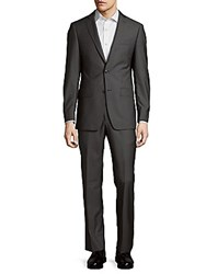 Michael Kors Striped Notch Lapel Suit Grey