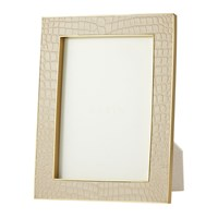 Aerin Classic Croc Leather Photo Frame Fawn 5X7 Neutral