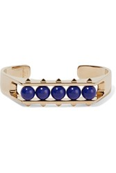 Valentino Gold Plated Stone Cuff Royal Blue