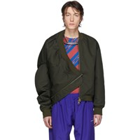 Y Project Green Upside Down Bomber Jacket