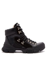Gucci Flashtrek Leather Hiking Boots Black