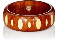 Mark Davis Women's Wood And Bakelite Bangle Brown