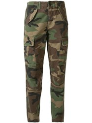 Polo Ralph Lauren Camouflage Print Cropped Trousers 60