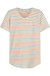 Madewell Whisper Striped Cotton Jersey T Shirt Cream