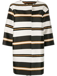 Antonelli Genova Striped Coat Black