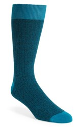 Ted Baker London Polbray Ribbed Socks Teal
