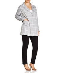 Nydj Plus Windowpane Check Jacket