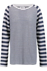 Zoe Karssen Striped Linen Top White