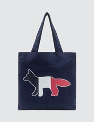 Maison Kitsune Tricolor Fox Tote Bag