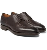 Edward Green Dover Textured Leather Derby Shoes Brown