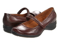 Hush Puppies Epic Mary Jane Dark Brown Leather Women's Maryjane Shoes