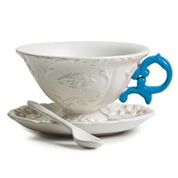 Seletti I Wares Porcelain Tea Set Light Blue