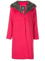 Guild Prime Faux Fur Collar Coat Pink
