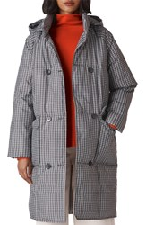 Whistles Check Longline Puffer Coat Multi Color