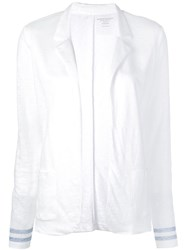 Majestic Filatures Open Front Jacket White