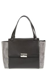 Salvatore Ferragamo 'Medium Bitter' Genuine Snakeskin And Leather Shoulder Tote