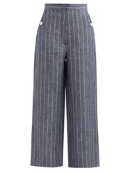 Max Mara Formia Trousers Navy White
