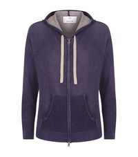 Allude Cashmere Hooded Cardigan Female Blue