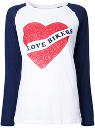 Zoe Karssen I Love Bikers T Shirt White