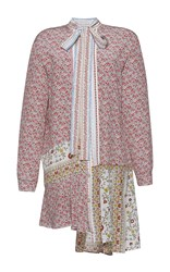 N 21 No. Amalia Floral Long Sleeve Lace Shirt Dress Red Green White