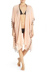 Ale By Alessandra Women's 'Mother Earth' Tassel Trim Cover Up Kimono
