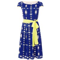 Libelula Beatrix Dress Zig Zag Diamond Print Blue