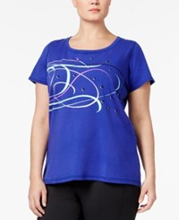 Ideology Plus Size Graphic Performance T Shirt Only At Macy's Blazing Purple