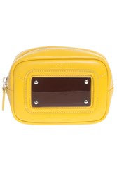 Missoni Small Leather Pouch Yellow