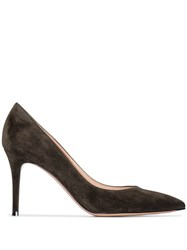 Gianvito Rossi 85Mm Suede Point Toe Pumps 60
