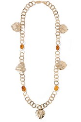Rosantica Panico Gold Tone Stone Necklace One Size
