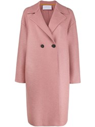 Harris Wharf London Double Breasted Coat Pink