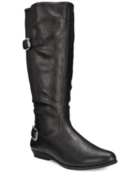 White Mountain Finalist Wide Calf Tall Boots Women's Shoes Black