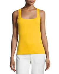 Michael Kors Square Neck Cashmere Shell Daffodil Yellow Women's